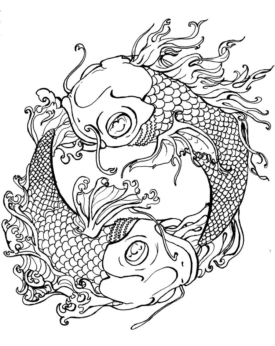 Japanese dragon tattoo coloring page