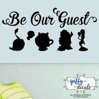 Be Our Guest Beauty And The Beast Vinyl Wall Decal Sticker ...