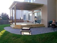 Deck Design with Pergola and Patio in Gurnee, IL   Deck ...