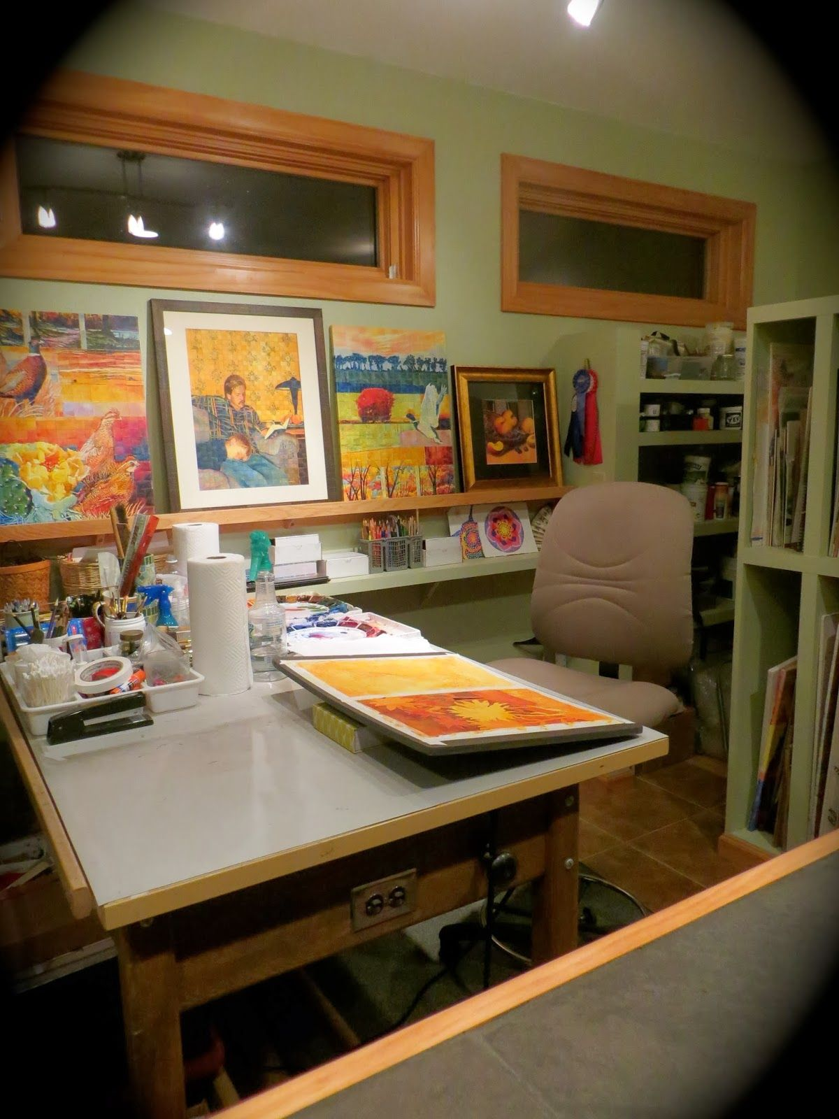 Art Studio Decor Home Art Studio I Like The Shelves Studios Pinterest