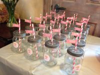 Mason jar glasses for elephant baby shower | Personal ...