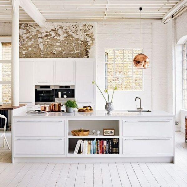 So beautiful! skandinavische Küche-weiße Kücheninsel design - skandinavisches kuchen design sorgt fur gemutlichkeit