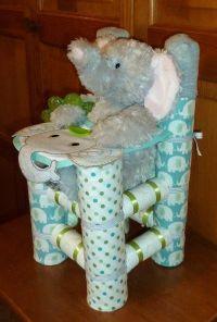Diaper High Chair - Boy Elephant www.etsy.com/shop ...