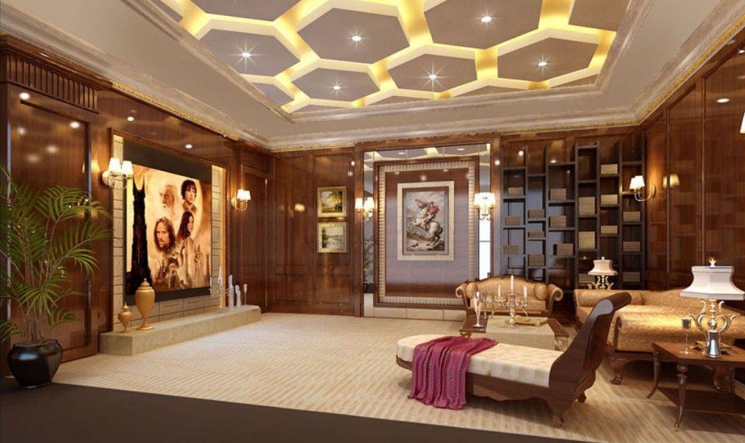 Cool Wood Walls In Luxury Villa Living Room  Wood Walls In Luxury - wood wall living room