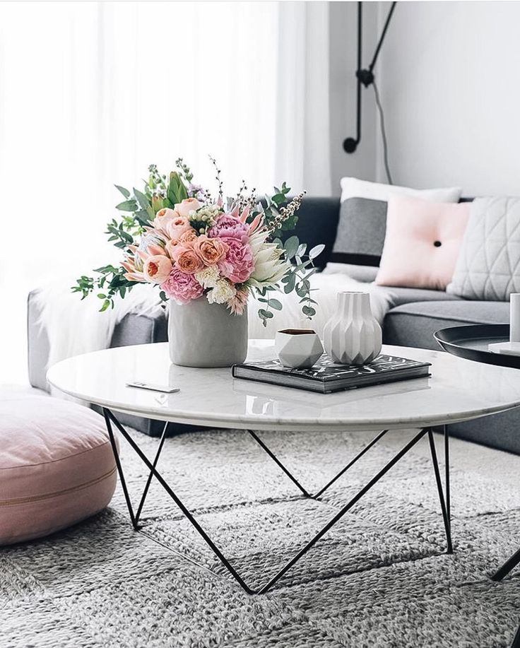 18 White Marble Coffee Tables We Love Grey couches, White marble - tables for living room