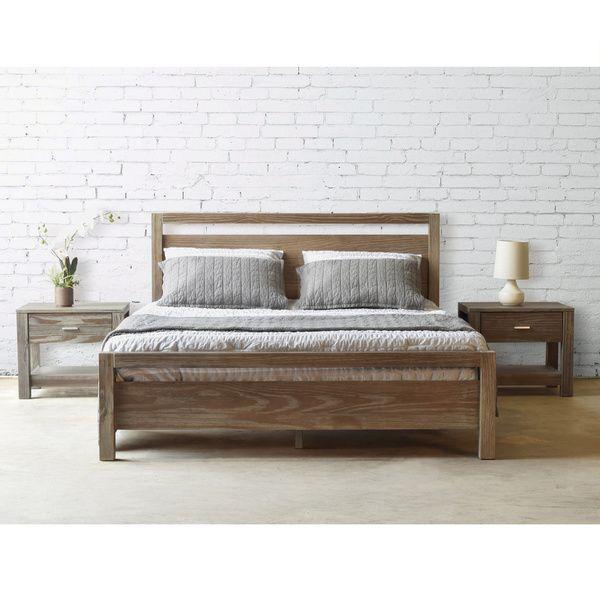 Grain Wood Furniture Loft Solid Wood Queen Size Panel