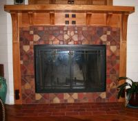 Craftsman Fireplace tile surround 1890-1930 reproduction ...