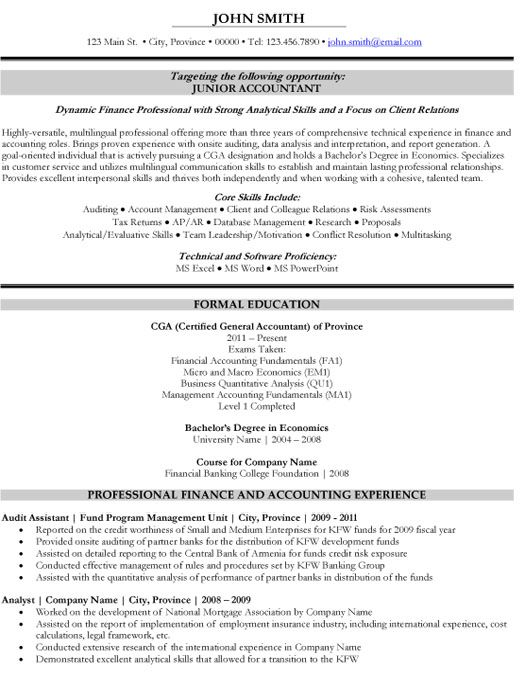 Click Here to Download this Junior Accountant Resume Template - cost accountant resume