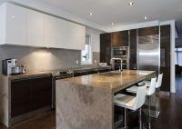 scavolini modern kitchen. dark wood. glossy white lacquer ...