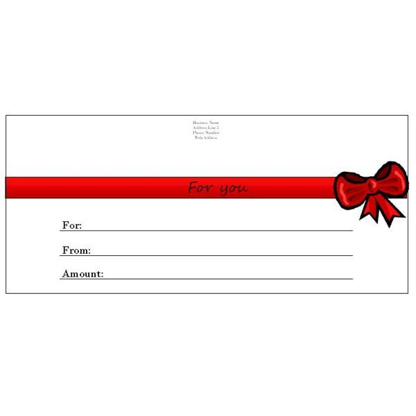 Whether you have a business and need to make a spa or restaurant - gift certificate template pages