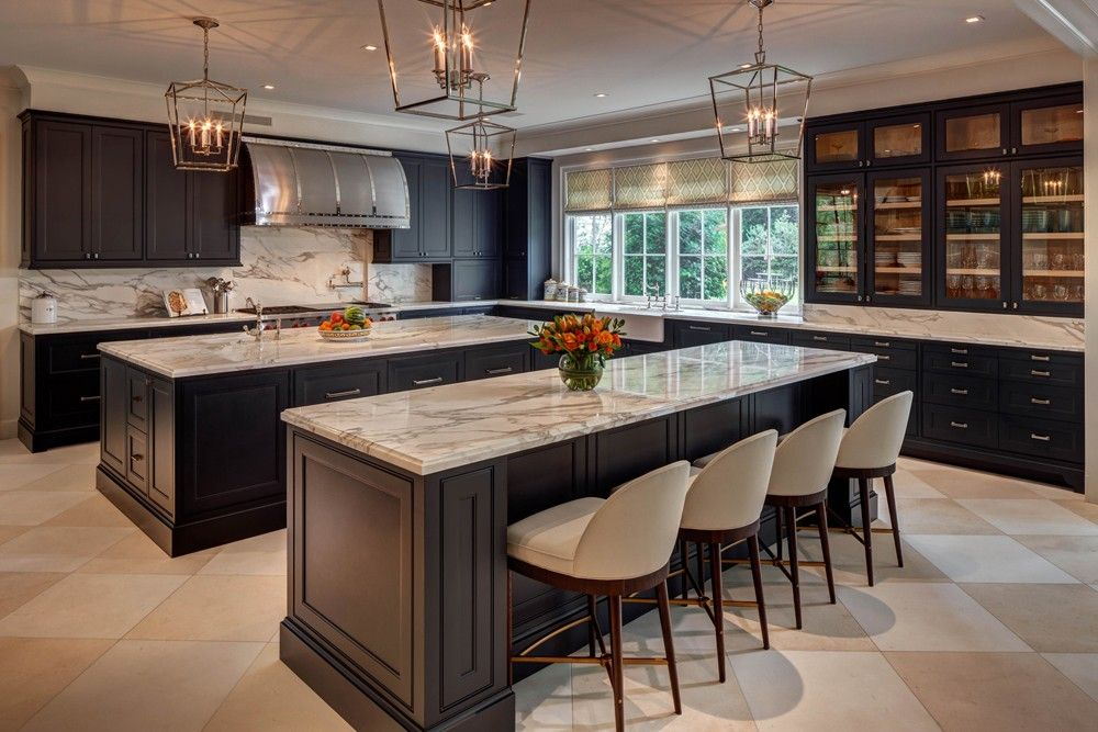 Images Of Modern Kitchens With Islands (2)modern-kitchen-chandeliers-marble-double-island-large