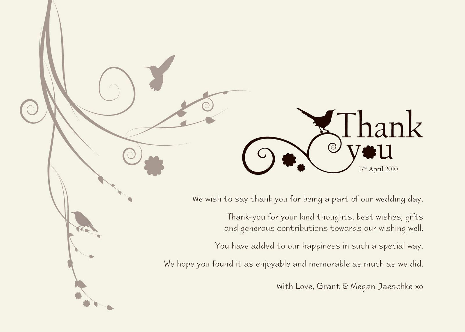 Thank You Letter For Wedding Invitation Gallery Letter