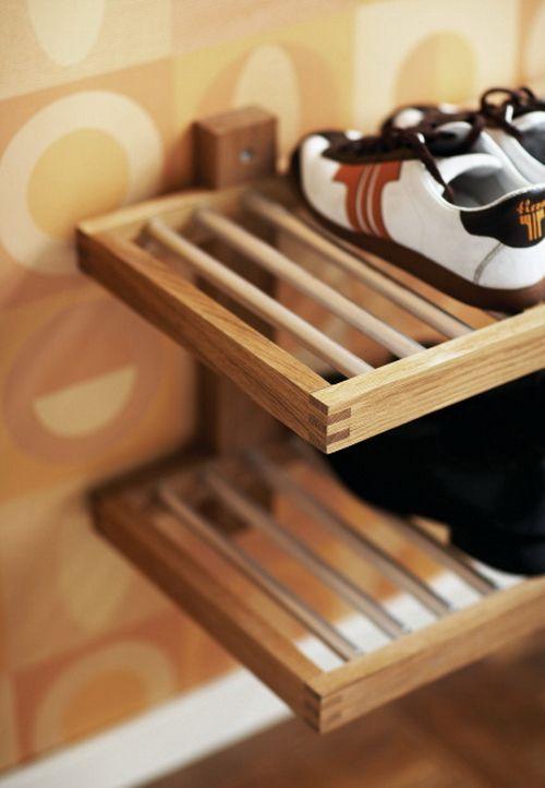 shoe rack closet organizers furniture ideas pinterest shoe wall mounted shoe shelves