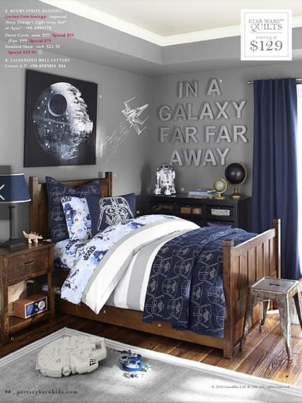 This is definitely a boys room for sure! Brown is always a good - star wars bedroom ideas