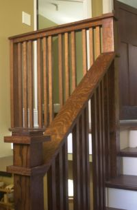 Craftsman stair rail; within code | Stairway project ...