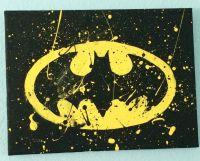 Batman canvas painting \ yellow \ black \ batman \ bat ...
