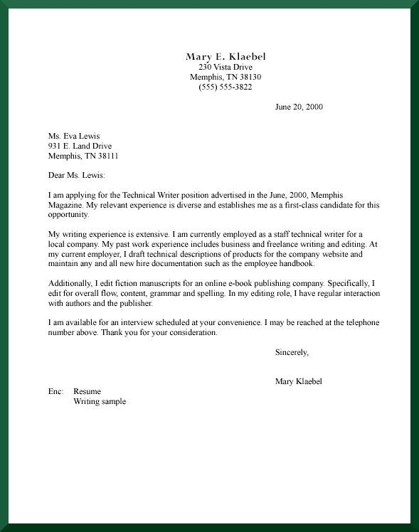 Cover Letter Format  Creating an Executive Cover Letter Samples - application letter format