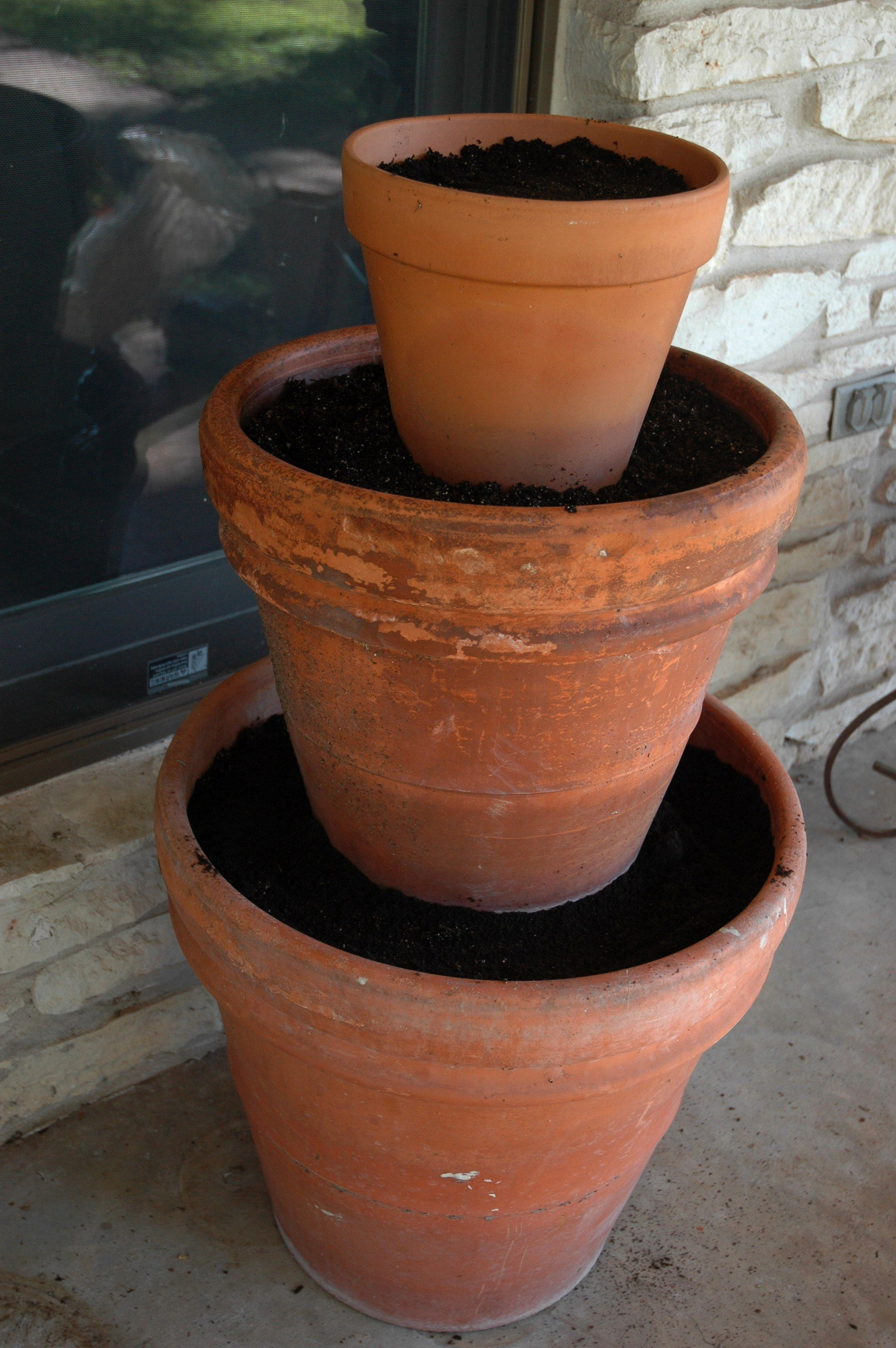 Three Tier Flower Pots How To Create A 3 Tiered Planter J Peterson Garden