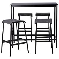 GARPEN Bar table and 4 bar stools - IKEA | Bar stool: Leg ...