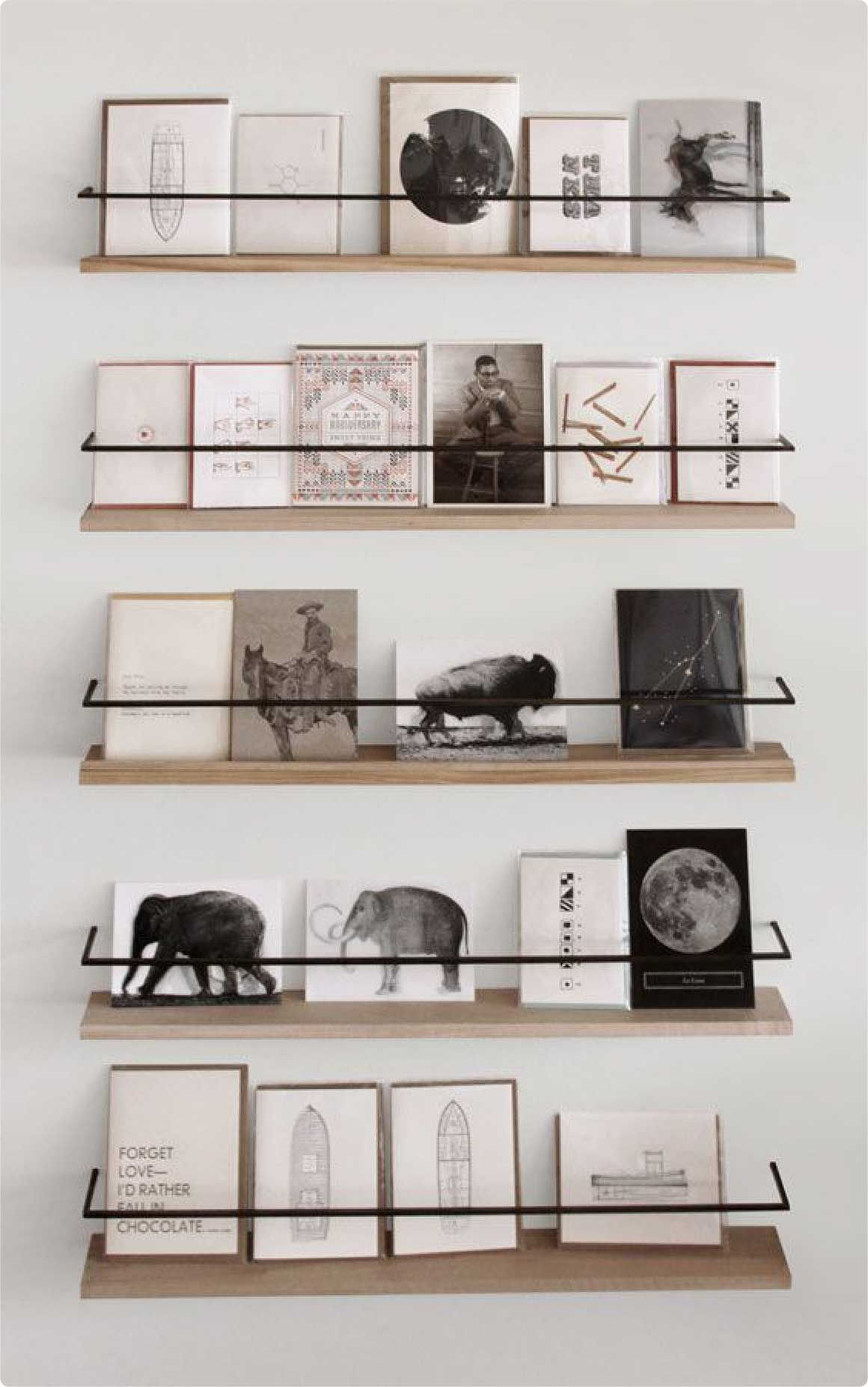 Wall Display Shelves Ideas Metal And Wood Card Display Pinterest Metals