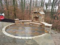 Paver Patio, Natural Stone, Seating Wall, Outdoor ...