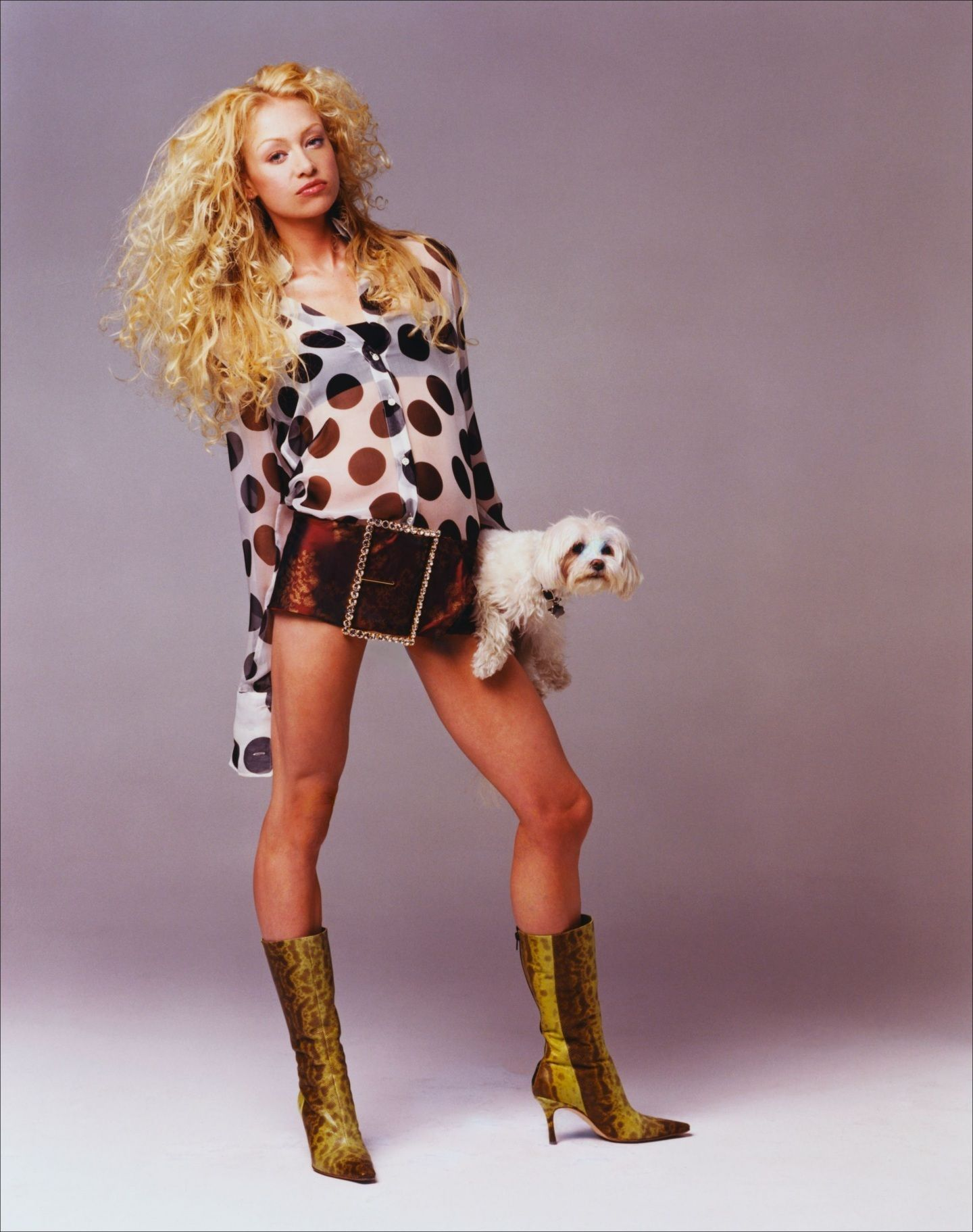 Ally Pin Up Portia De Rossi Polka Dot Ally Mcbeal With Dogs