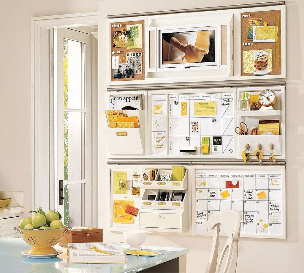 Modern kitchen storage designs for small kitchens with white board