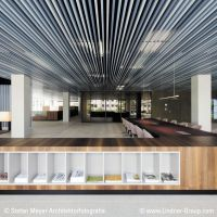 Linear Metal Baffle Ceiling