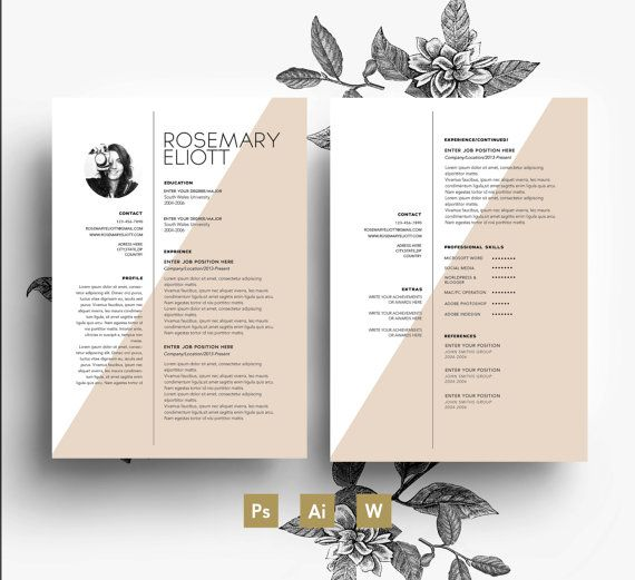 template\/ Business card + CV template + Cover letter\/ easy - professional cover letters