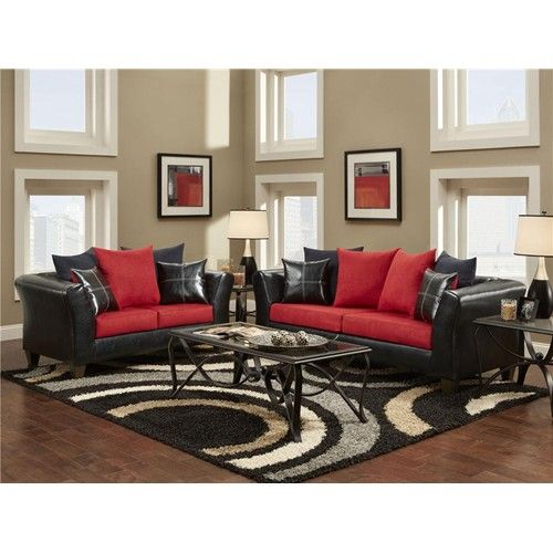 red-black-and-white-living-room-amazing-ideas-9-on-home - red and black living room set