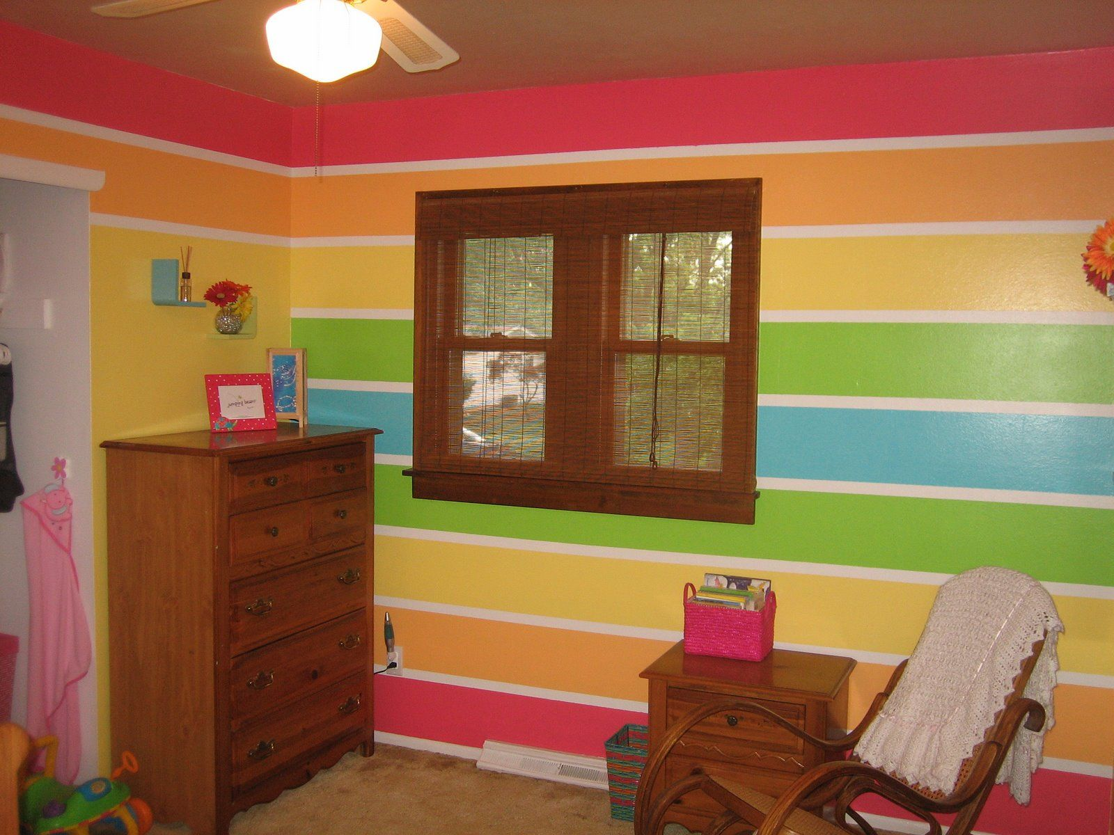 Rainbow Bedroom Ideas Not The Entire Room Just One Wall Thinking Maybe Vertical