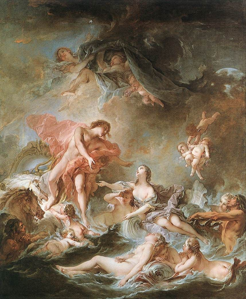 Pintura Rococo François Boucher French 1703 1770 The Setting Of The Sun 1752