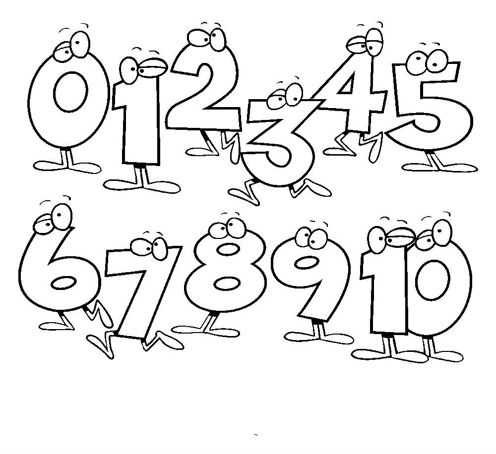 Counting animation coloring pages for kidsfree
