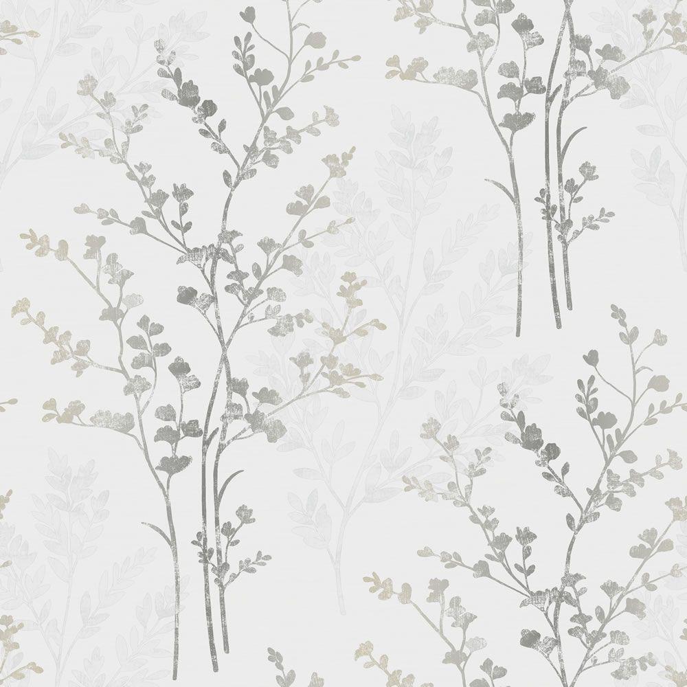 Arthouse imagine fern motif w p silver wallpaper 12 99 roll