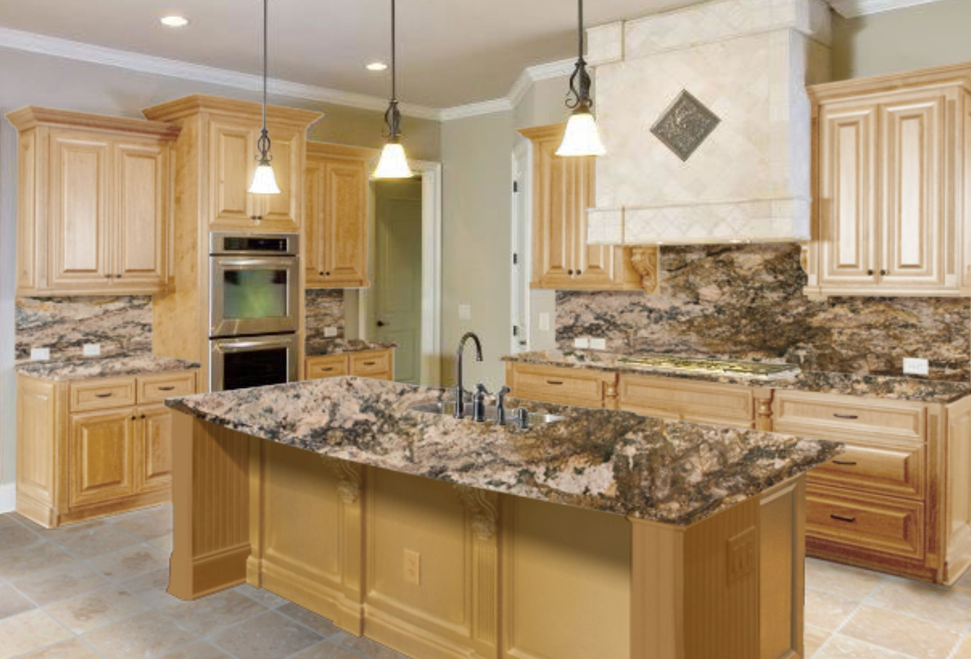 Maple Kitchen Cabinets With Marble Countertops The Right Granite Countertops For Your Maple Cabinets
