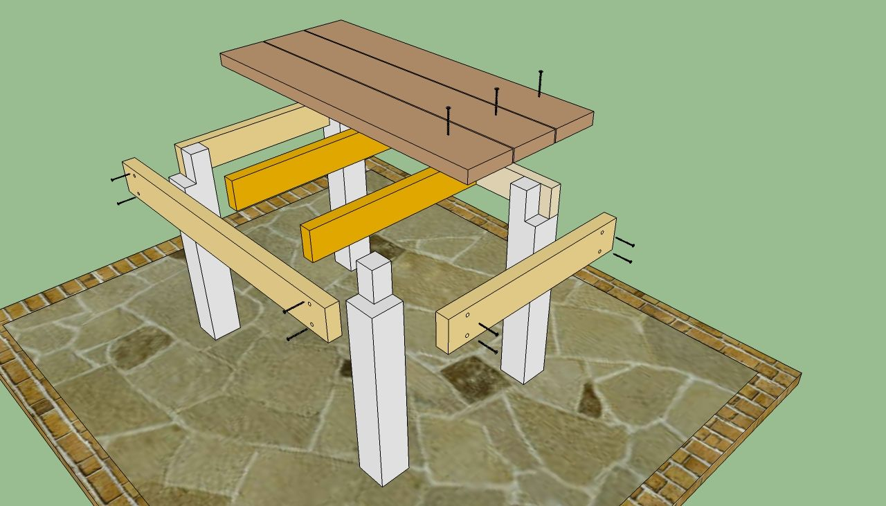 Diy outdoor bar plans table plans howtospecialist how to build