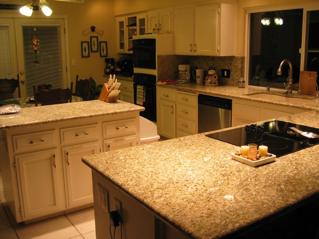 kitchens kitchen granite countertop Captivating Granite Countertop Design Collections Fascinating Granite Countertop with White Kitchen Cabinets and White Tiles Ceramic Flooring for Amusing
