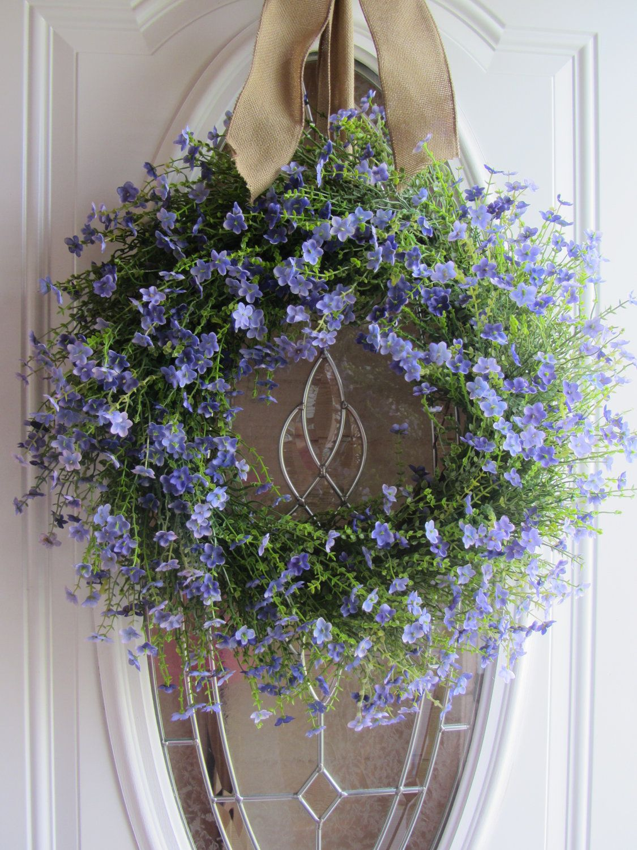 Summer wreaths summer wreath front door wreath country wreath lilac wreath