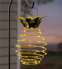 Hanging Solar Lantern Decoration, Pineapple | Our ...