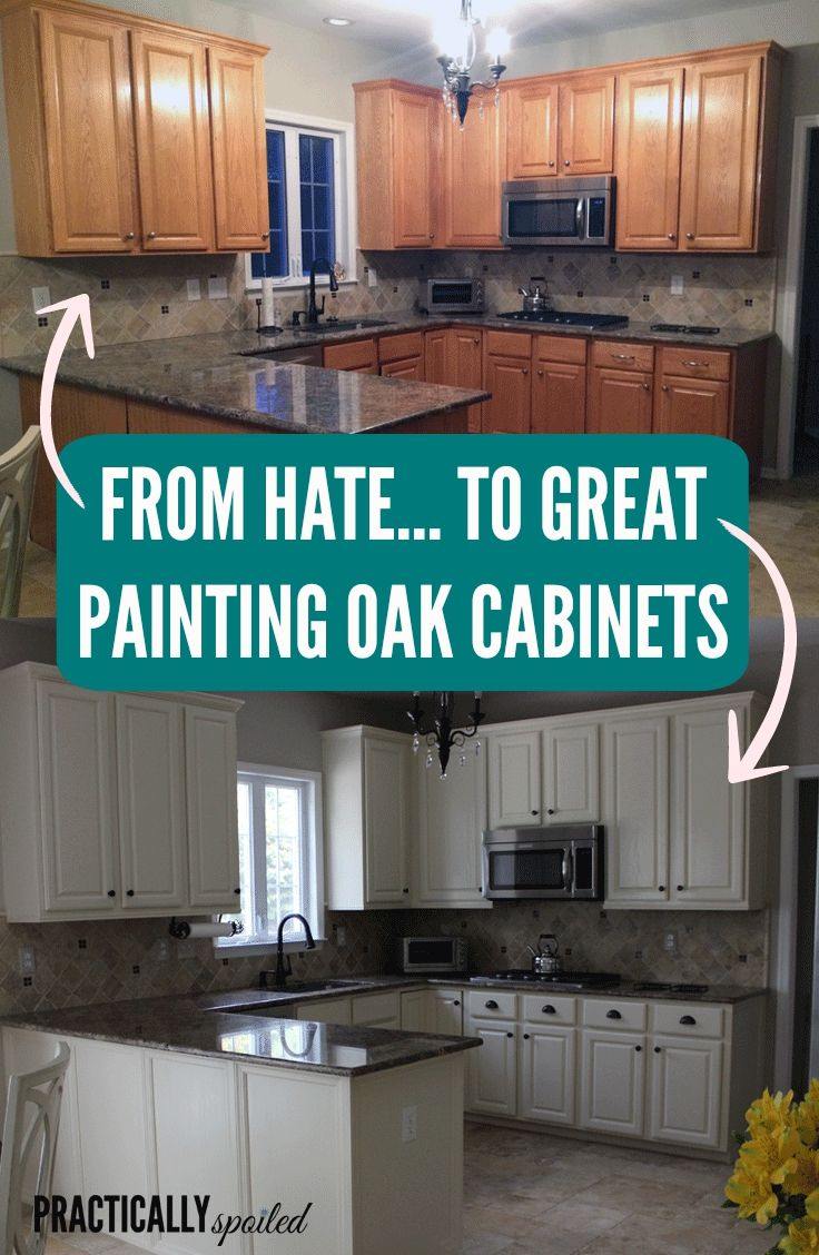 repainting kitchen cabinets From HATE to GREAT a tale of painting oak cabinets practicallyspoiled com