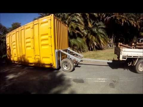 Shipping Container Becomes Trailer Youtube Casas