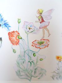 Fairy wall decal - flower wall sticker - girls bedroom ...