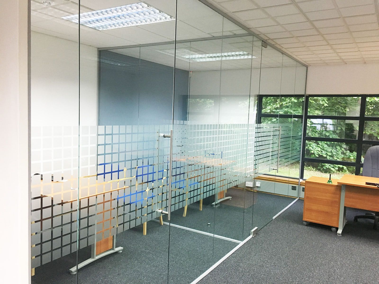 Open Glass Wall From Glass At Work Glass Office Partitions And An Open