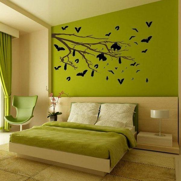 feng shui farben schlafzimmer wandfarbe grün Schlafzimmer Ideen - schlafzimmer ideen in grun