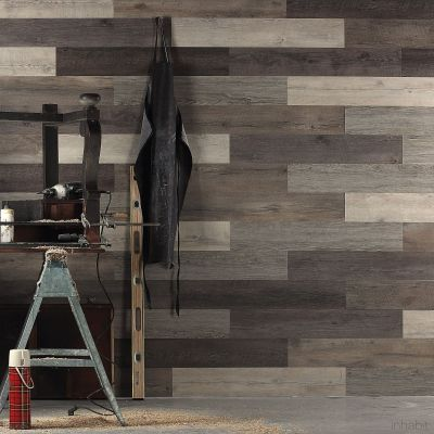 Scrap Wood Look Peel and Stick Wall Planks   Wood paneling, Wide plank and Plank