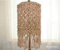 Macrame lampshade for floor or table lamp by craft2joy on ...
