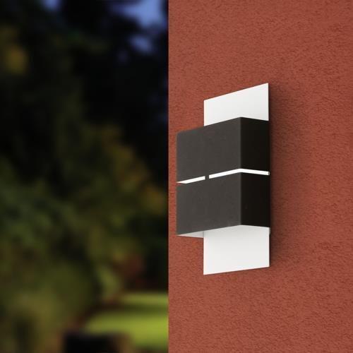 Modische (Außen-)Wandleuchte KIBEA LED Weiß\/Anthrazit EGLO - lampen ausen led