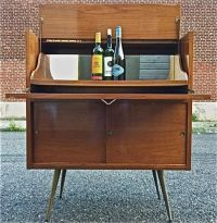 Painting of Mid Century Modern Bar Cabinet Ideas | Storage ...