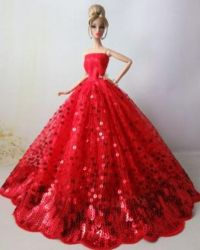 Fashionable Red Color Wedding Dress,Decorate with Sequins ...