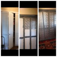 Louvered door makeover.  | Pinteres